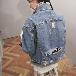 Dabagirl Distressed Vintage Denim Jacket