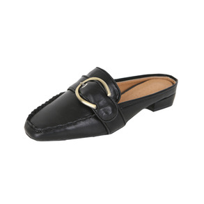 Dabagirl Open-Back Buckled Square Toe Loafers
