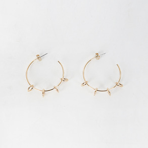 Dabagirl Ring-Accented Hoop Earrings