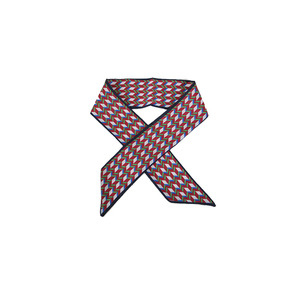 Dabagirl Colorblock Herringbone-Patterned Scarf