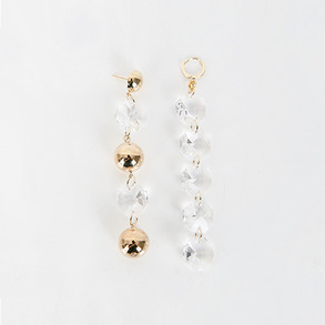 Dabagirl Ball and Faux Gem Drop Earrings