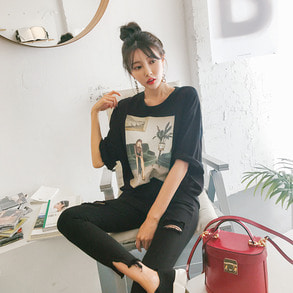Dabagirl Graphic Print Loose Fit T-Shirt