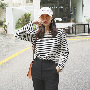 Dabagirl Striped Side Slit T-Shirt
