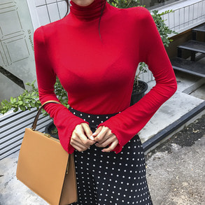 Dabagirl Slim Fit Turtleneck Knit Top