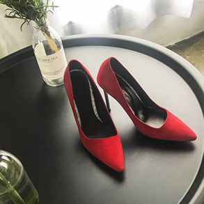 Dabagirl Pointed Toe Faux Suede Heels