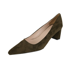 Dabagirl Faux Suede Mid Heeled Pumps