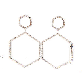 Dabagirl Geometric Rhinestone Earrings