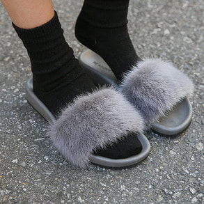 Dabagirl Mink Fur Slide Slippers