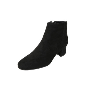 Dabagirl Side Zip-Up Suede Ankle Boots