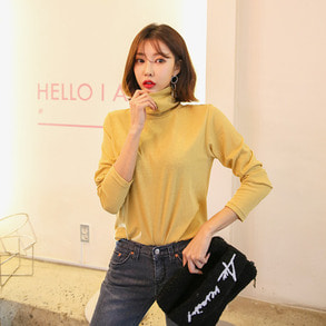 Dabagirl Turtleneck Relaxed Fit T-Shirt