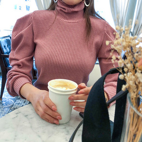 Dabagirl Long Sleeved Turtleneck Knit Top