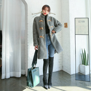 Dabagirl High Neck Duffel Coat