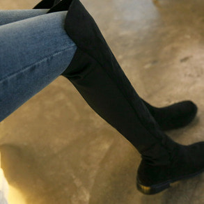 Dabagirl Round Toe Long Boots