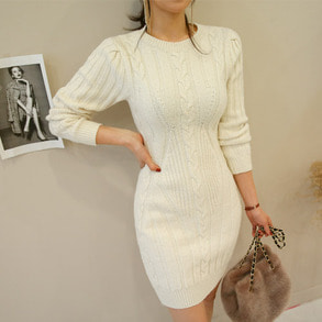 Dabagirl Solid Tone Slim Fit Knit Dress