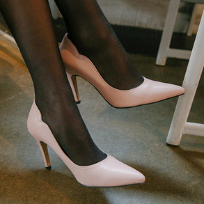 Dabagirl Pointed Toe Solid Tone Pumps