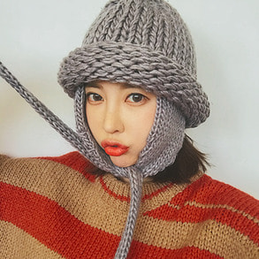 Dabagirl Solid Tone Knit Trapper Hat