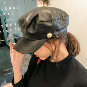 Dabagirl Gold Button Newsboy Cap
