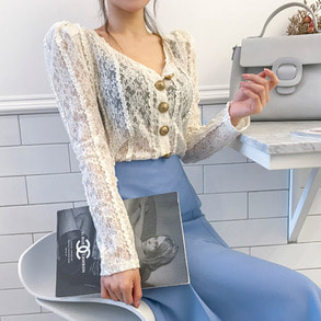 Dabagirl Lace Sheer Cardigan