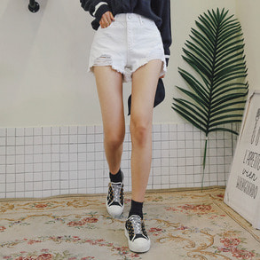 Dabagirl High Waist Raw Hem Shorts