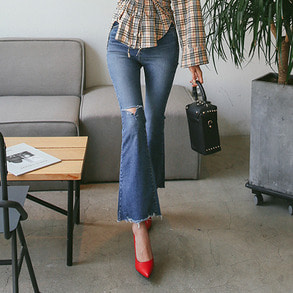 Dabagirl Bootcut Washed Jeans