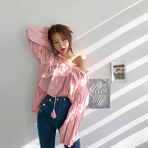 Dabagirl Gathered Loose Fit Blouse