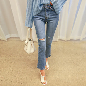 Dabagirl Cutout Mid Rise Jeans