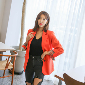 Dabagirl Notched Collar Flap Pocket Blazer