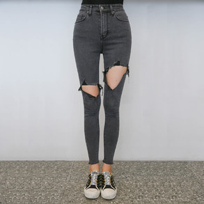 Dabagirl Distressed Raw Hem Jeans