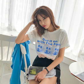 Dabagirl Loose Fit Short Sleeve T-Shirt
