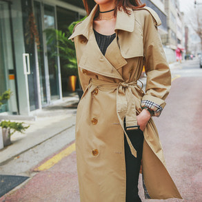 Dabagirl Belted Loose Fit Trench Coat
