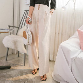 Dabagirl High Waist Pleated Wide Leg Pants