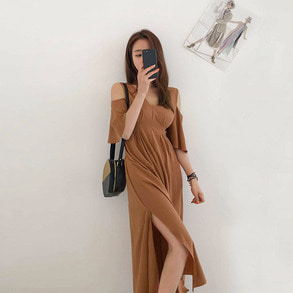 Dabagirl V-Neck Cutout Shoulder Dress