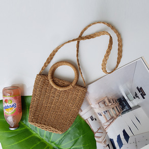 Dabagirl Round Handle Paper Straw Bag