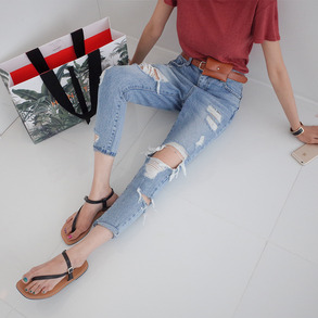 Dabagirl Distressed Loose Fit Jeans