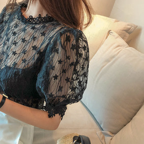 Dabagirl Lace Sheer Blouse