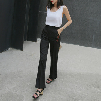 Dabagirl High Waist Straight Cut Pants