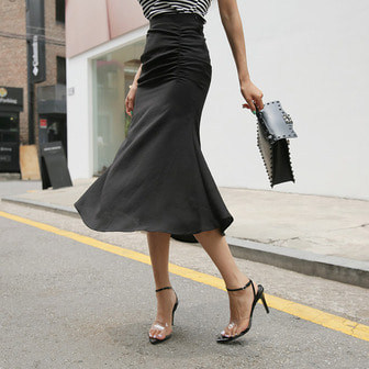 Dabagirl Gathered Midi Skirt
