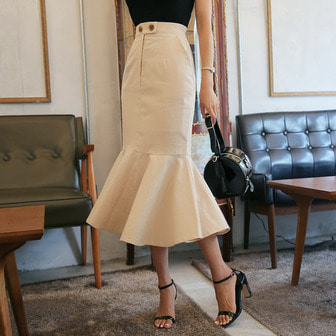 Dabagirl Slit Flared Hem Skirt