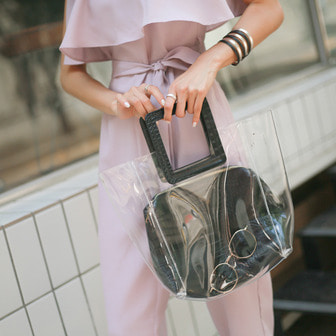 Dabagirl Faux Leather Transparent Bag
