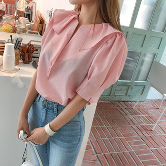 Dabagirl Frill Puff Sleeve Blouse