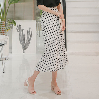 Dabagirl Flared Polka Dot Skirt