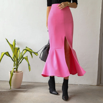 Dabagirl Front Slit Mermaid Skirt