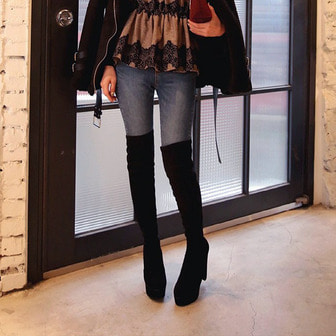 Dabagirl Over-the-Knee Platform Boots