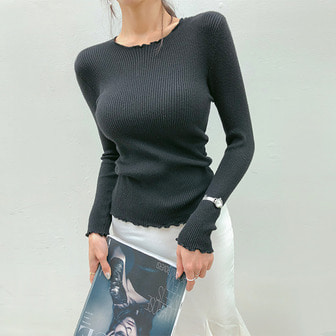 Dabagirl Slim Fit Ribbed Knit Top