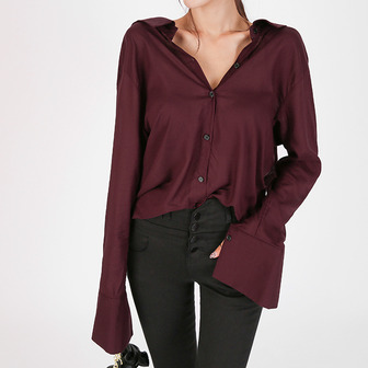 Dabagirl Ribbon Back Loose Fit Blouse