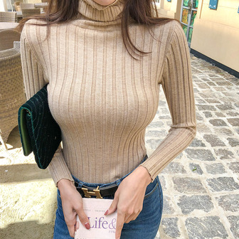 Dabagirl Turtleneck Ribbed Top