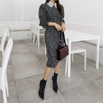 Dabagirl Check Tweed Dress