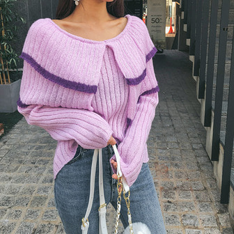 Dabagirl Tiered Contrast Stripe Knit Top