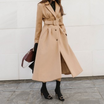 Dabagirl Flared Midi Coat