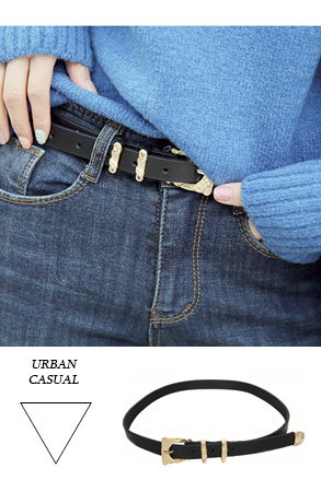 Dabagirl Textured Buckle Pleather Belt